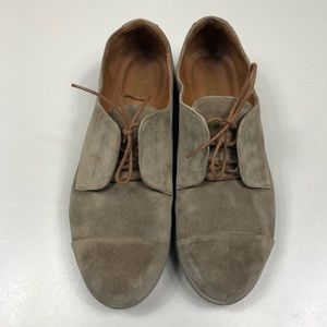 SAMUEL HUBBARD   Taupe Suede Freedom Now Oxfords 8